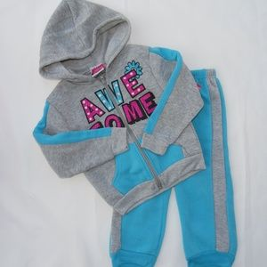 Baby Girl 2 piece Sweat Suit Hoodie and Pants